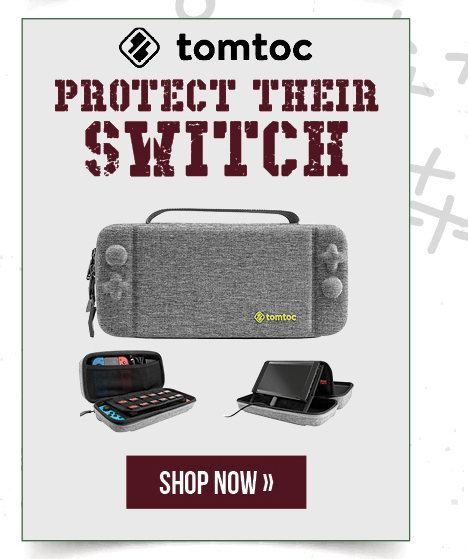 tomtoc: protect their Switch.  Shop now.